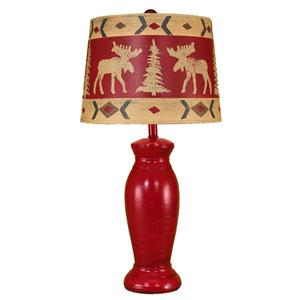 Rustic Living High Gloss Brick Glaze One-Light Table Lamp