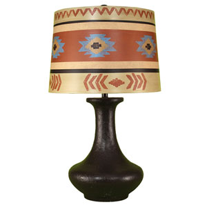 Rustic Living High Gloss Dark Brown One-Light Table Lamp