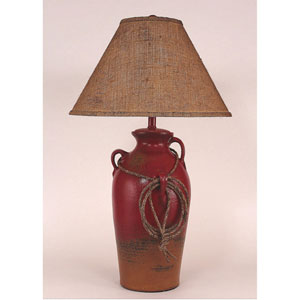 Rustic Living Firebrick One-Light Table Lamp