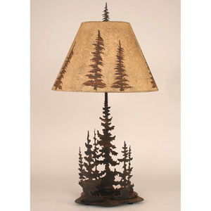 Rustic Living Burnt Sienna One-Light Table Lamp