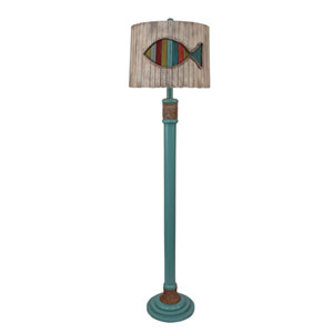 Coastal Living Antique Turquoise Sea One-Light Floor Lamp