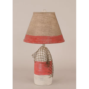 Coastal Living Cottage and Classic Red One-Light Table Lamp