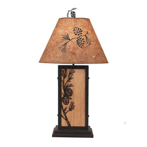 Rustic Living Kodiak and Natural Stain One-Light Table Lamp