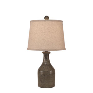 Rustic Living Tarnished Pale Grey One-Light Table Lamp