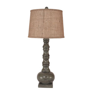 Rustic Living Tarnished Atlantic Grey One-Light Table Lamp