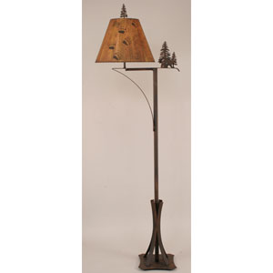 Rustic Living Burnt Sienna One-Light Floor Lamp