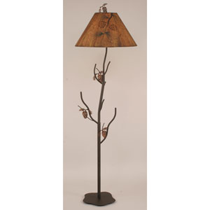 Rustic Living Charred One-Light Floor Lamp