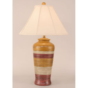 Glaze One-Light Tall Ribbed Table Lamp