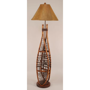 Rustic Living Stained One-Light Floor Lamp