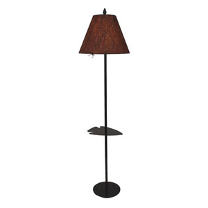 Rustic Living Kodiak One-Light Floor Lamp with Tray