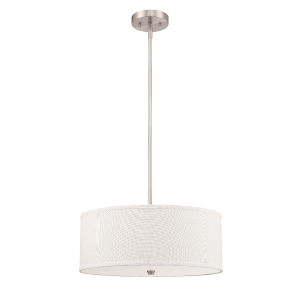 Brushed Nickel Three-Light Pendant