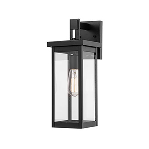 Powder Coat Black Six-Inch One-Light Outdoor Wall Sconce