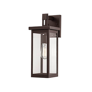 Powder Coat Bronze Six-Inch One-Light Outdoor Wall Sconce