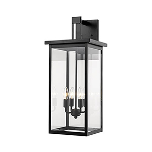 Powder Coat Black 11-Inch Four-Light Outdoor Wall Sconce