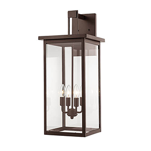 Powder Coat Bronze 11-Inch Four-Light Outdoor Wall Sconce