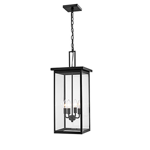 Powder Coat Black 11-Inch Four-Light Outdoor Pendant