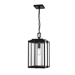 Powder Coat Black 11-Inch One-Light Outdoor Pendant