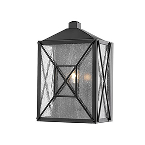Powder Coat Black Five-Inch One-Light Outdoor Wall Sconce