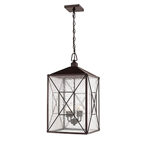 Powder Coat Bronze 14-Inch Four-Light Outdoor Pendant