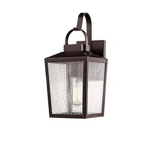 Powder Coat Bronze Seven-Inch One-Light Outdoor Wall Sconce