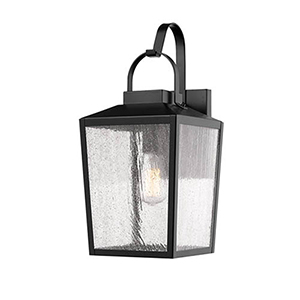 Powder Coat Black Eight-Inch One-Light Outdoor Wall Sconce