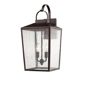 Powder Coat Bronze 10-Inch Two-Light Outdoor Wall Sconce