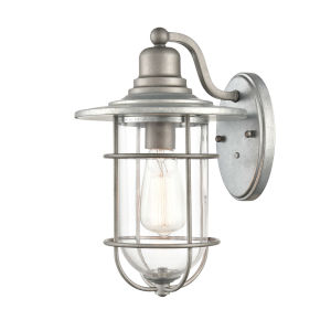 Galvanized Nine-Inch One-Light Outdoor Wall Mount
