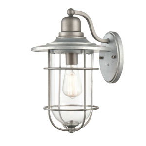 Galvanized 10-Inch One-Light Outdoor Wall Mount