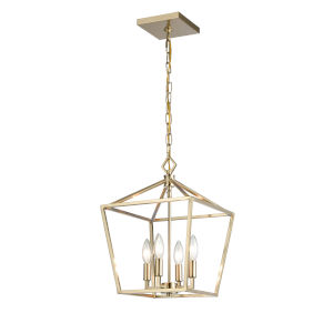 Modern Gold 12-Inch Four-Light Pendant