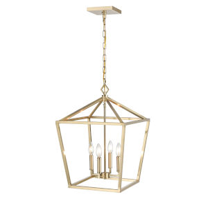 Modern Gold 16-Inch Four-Light Pendant