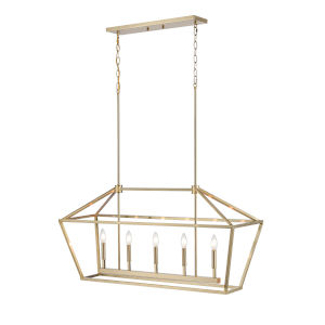Modern Gold 12-Inch Five-Light Pendant