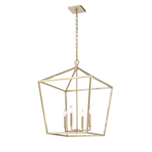 Modern Gold 20-Inch Four-Light Pendant