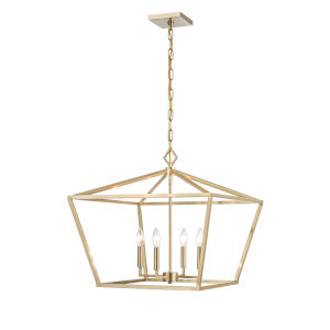 Modern Gold 23-Inch Four-Light Pendant