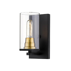 Burbank Matte Black and Heirloom Bronze One-Light Wall Sconce