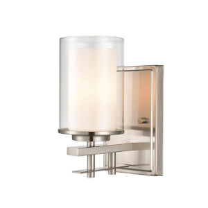 Brushed Nickel Nine-Inch One-Light Wall Sconce