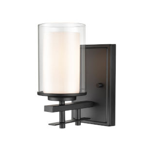 Matte Black Nine-Inch One-Light Wall Sconce