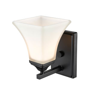 Matte Black Six-Inch One-Light Wall Sconce