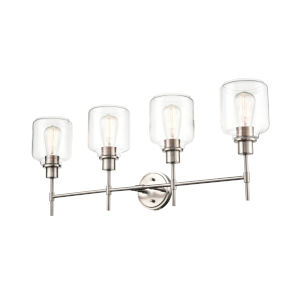 Asheville Satin Nickel Four-Light Bath Vanity