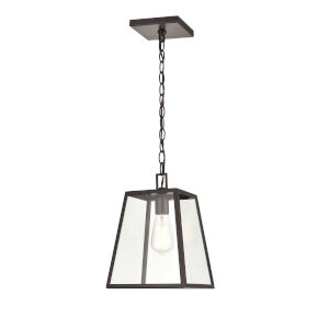 Grant Powder Coat Bronze One-Light Outdoor Pendant