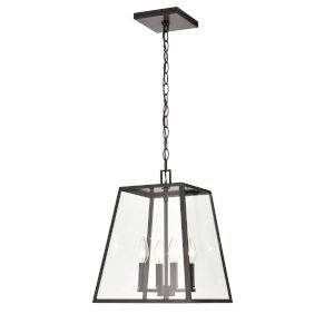 Grant Powder Coat Bronze Four-Light Outdoor Pendant