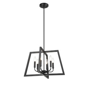 Matte Black 21-Inch Six-Light Pendant