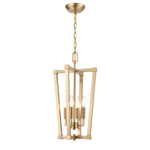 Modern Gold 11-Inch Four-Light Pendant