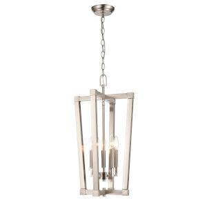 Brushed Nickel Five-Light Pendant