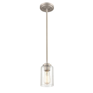 Satin Nickel Seven-Inch One-Light Mini Pendant