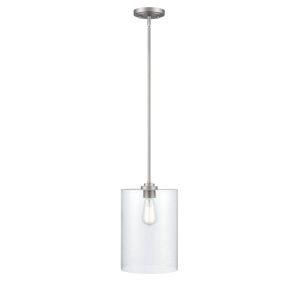 Satin Nickel Nine-Inch One-Light Mini Pendant