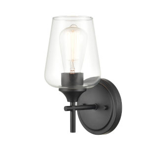 Ashford Matte Black One-Light Wall Sconce