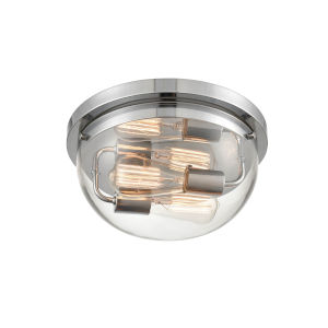 Ashford Chrome Two-Light Flushmount Ceiling Light