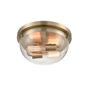 Ashford Modern Gold Two-Light Flushmount Ceiling Light