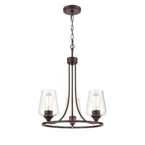 Ashford Rubbed Bronze Three-Light Chandelier