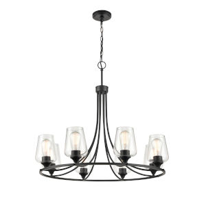 Ashford Matte Black Eight-Light Chandelier